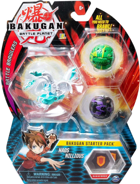 Bakugan Starter Pack 3 unidades Haos Nillious, figuras de acción ...