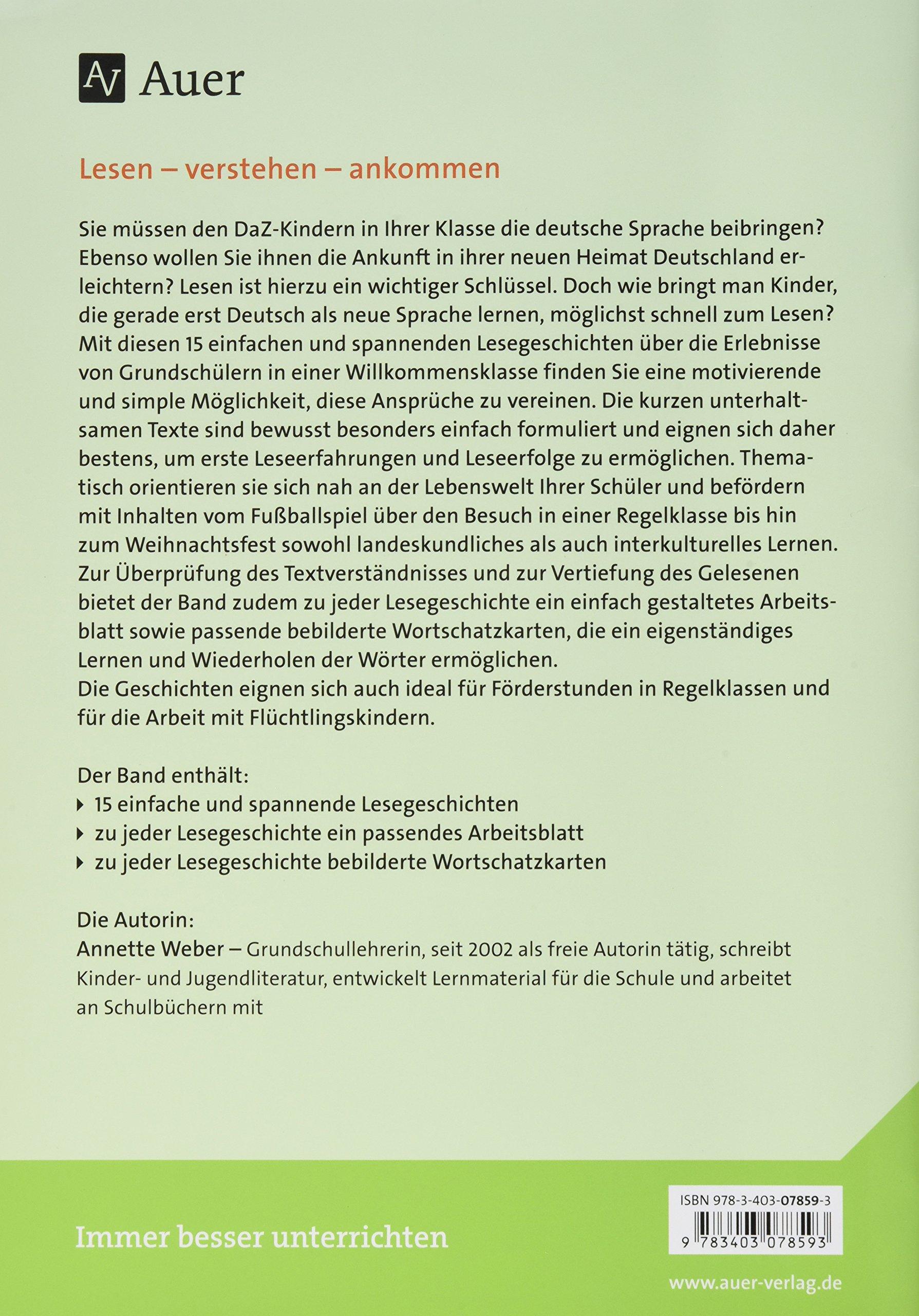 Einfache Lesegeschichten für DaZ-Kinder: Deutsch lesen lernen und in ...