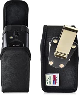 product image for Turtleback Belt Clip Case Made for Kyocera DuraXV LTE E4610 Black Vertical Holster Nylon Pouch with Heavy Duty Rotating Belt Clip Made in USA