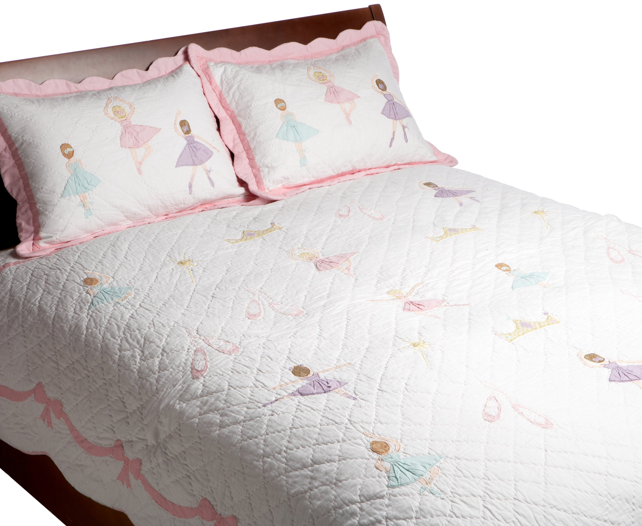 Pem America, Ballet Lesson Collection, Queen 3-Piece Quilt Set, Pink by Pem America