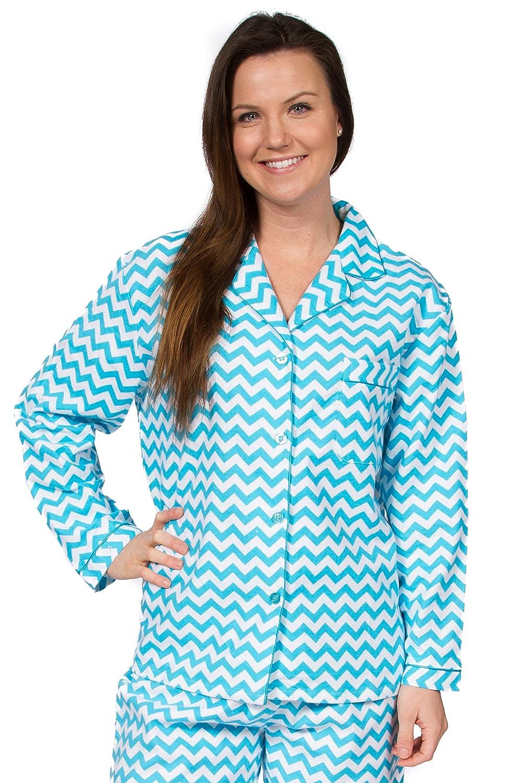 Leisureland Women s Cotton Flannel Long Sleeve Pajama Set d096ff3fd
