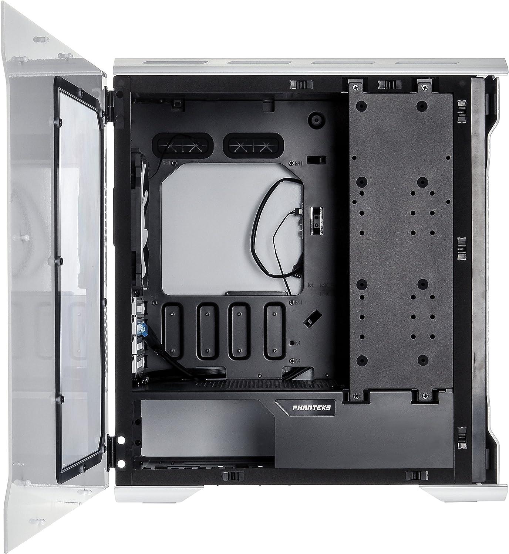 Phanteks Enthoo EVOLV Micro-Tower Blanco Carcasa de Ordenador - Caja de Ordenador (Micro-Tower, PC, Aluminio, Acero, Mini-ITX,uATX, Blanco, 19,2 cm): Amazon.es: Informática