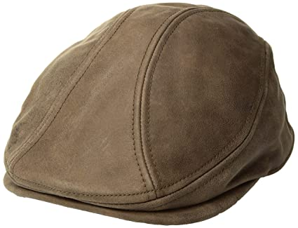 597f1a8b8a8 Amazon.com  Henschel Genuine Leather Driving Cap  Sports   Outdoors