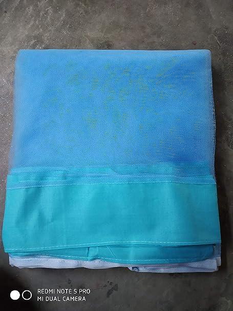 shri ashu creation Superior Luxor Qualtiy Mosquito Net for Bed- (6 * 6 feet) Blue