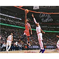 """$63 » Coby White Chicago Bulls Autographed 16"""" x 20"""" Lay Up vs. New York Knicks Photograph - Fanatics Authentic Certified"""
