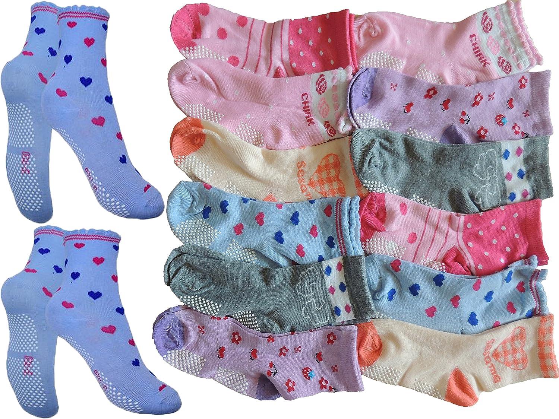 Unbekannt 10 Paar Anti rutsch M/ädchen Socken Gr/ö/ße 24-39