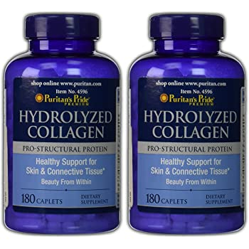 Puritans Pride 2 Pack of Hydrolyzed Collagen 1000 mg Puritans Pride Hydrolyzed Collagen 1000 mg-180 Caplets
