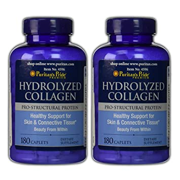 Puritans Pride 2 Pack of Hydrolyzed Collagen 1000 mg Puritans Pride Hydrolyzed Collagen 1000 mg-