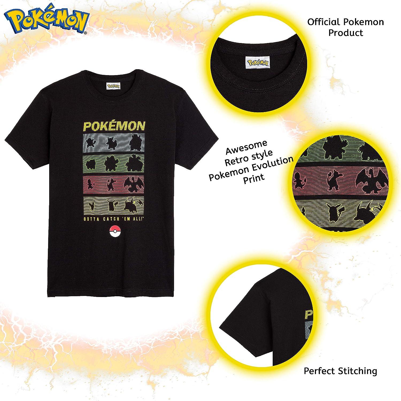 Maglietta Pikachu Un Cotone Abbigliamento Bimbo E Ragazzo Pok/émon T Shirt per Bambino Idea Regalo Compleanno Bambini Magliette Pokeball da 5 A 14 Anni