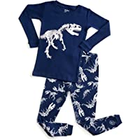 DinoDee Kids Pajamas Boys Girls 2 Piece Pjs Set Christmas Styles 100% Cotton (2 Toddler-10 Years)