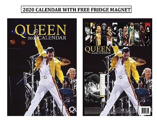 Queens College 2020 Calendar Amazon.: Queen Calendar 2020 + Queen Refrigerator Mag
