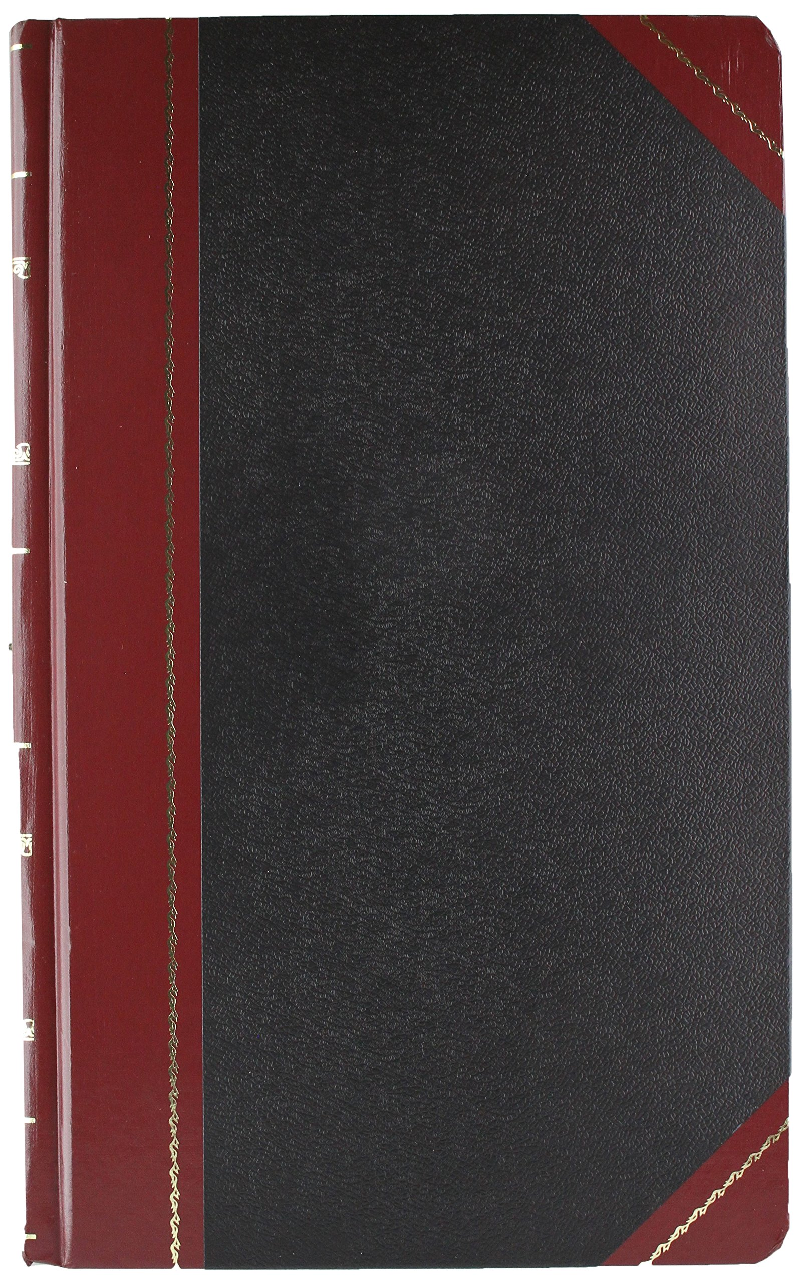 Boorum & Pease 9500J Record/Account Book, Journal Rule, Black/Red, 500 Pages, 14 1/8 x 8 5/8
