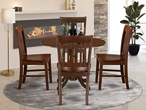 Amazon Com 5 Pc Small Kitchen Table And Chairs Set Small Kitchen Table Plus 4 Kitchen Chairs Table Chair Sets