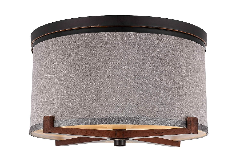 Woodbridge Lighting 13432MEB-S11502 Close to Ceiling Light Fixtures Grey