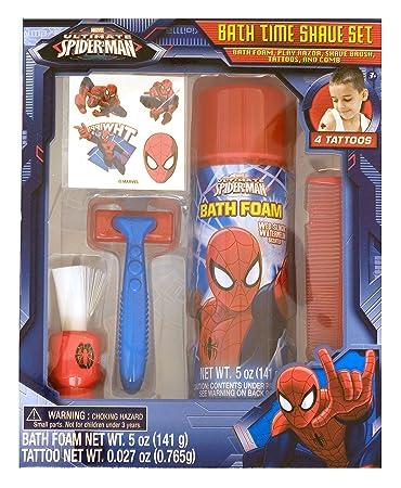 Marvel Ultimate Spiderman Bath Time Shave Set Pretend Play