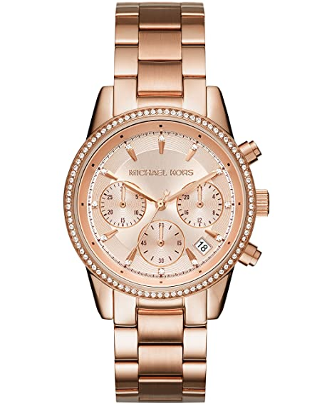 ab4eb2fccafa Michael Kors Women s Ritz Rose Gold-Tone Watch MK6357  Amazon.ca  Watches