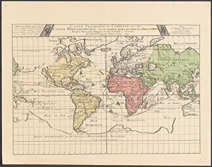 Amazon.com: Home Comforts Framed Art Your Wall Map 1677 ...