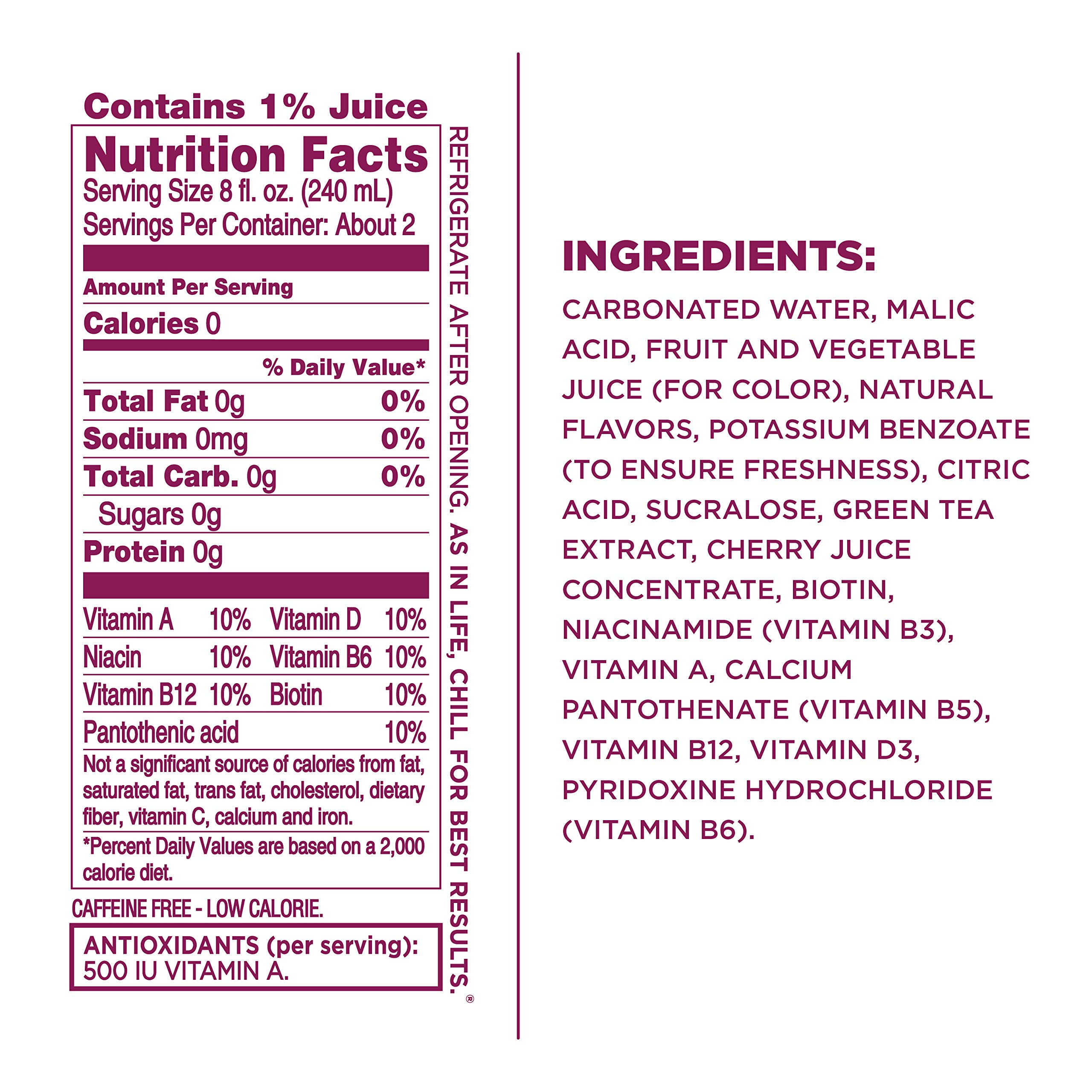 Sparkling Ice Black Cherry Sparkling Water, with Antioxidants and Vitamins, Zero Sugar, 17 Ounce Bottles, 12 Count - 2 Pack