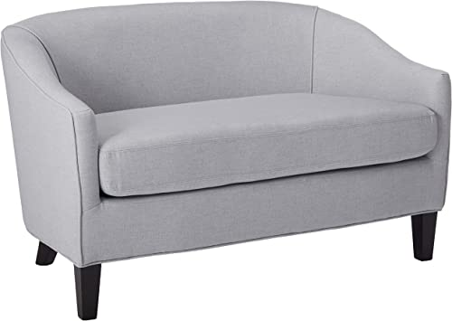 Christopher Knight Home Justine Fabric Loveseat, Light Grey