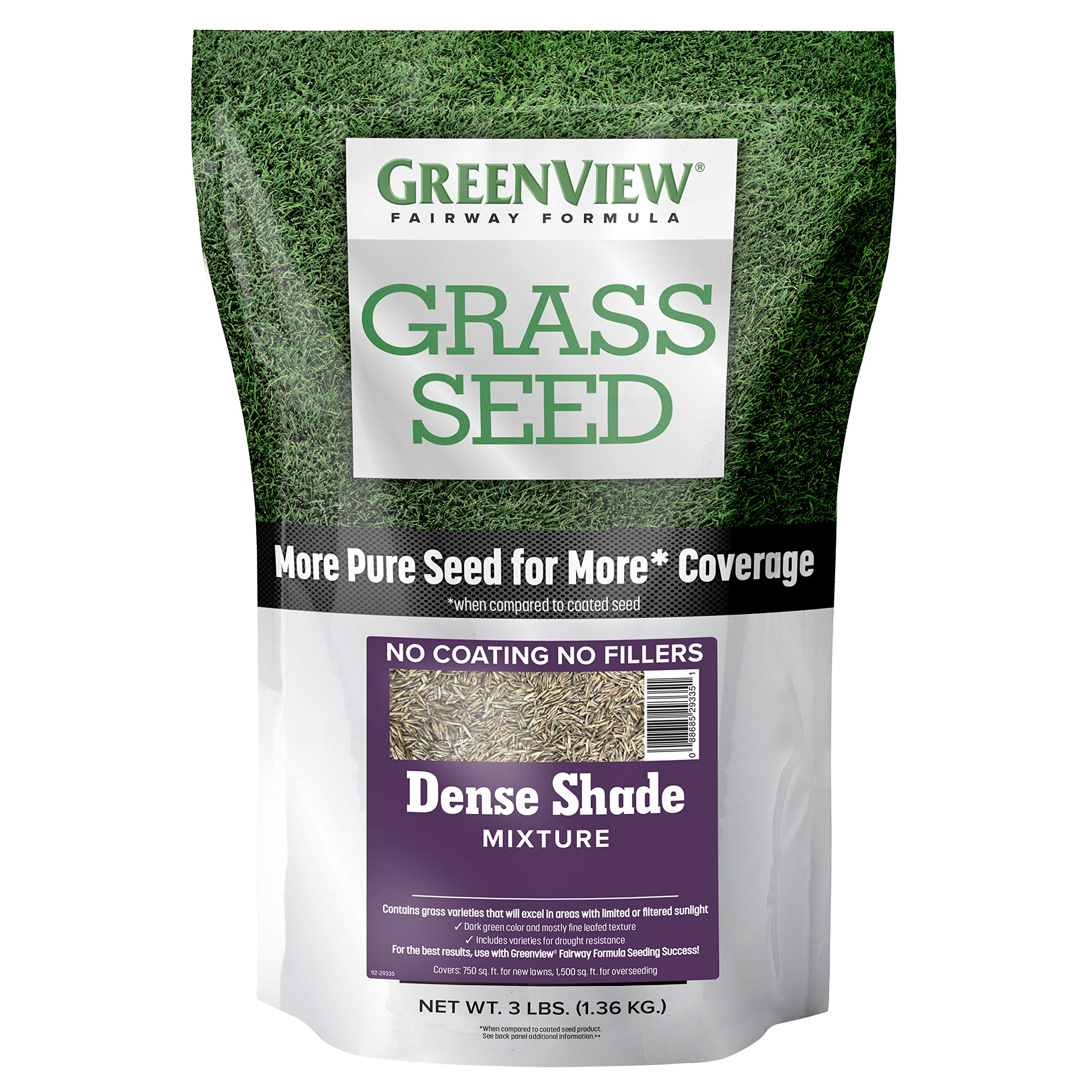 GreenView 2829342 Fairway Formula Grass Seed Dense Shade Mixture, 3 lb.