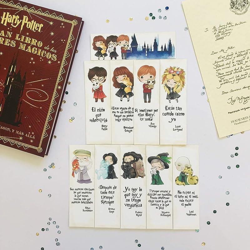 Pack 10 marcapáginas Harry Potter con animales: Amazon.es ...
