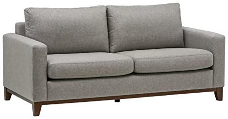 Amazon Com Rivet North End Exposed Wood Modern Sofa 78 W Grey