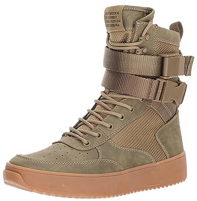 Steve Madden Men's Zeroday Sneaker, Olive, ...