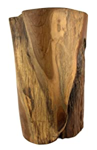 Teak Reclaimed Stump Style Table or Stool | Natural, Kiln-Dried Teak | Product Varies in Size, Shape, and Color