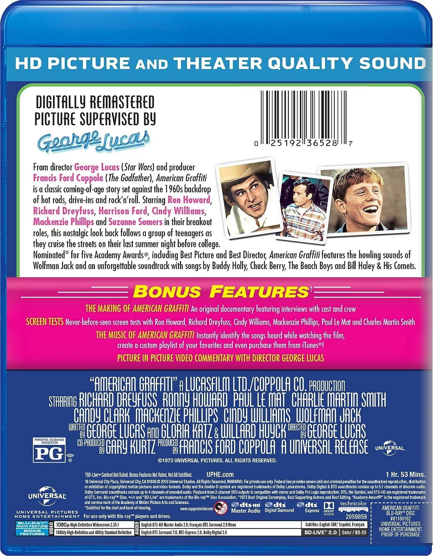 American Graffiti Edizione: Stati Uniti Italia Blu-ray: Amazon.es ...