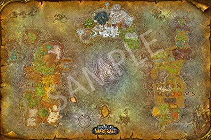Amazon Com Best Print Store World Of Warcraft Map Of Azeroth
