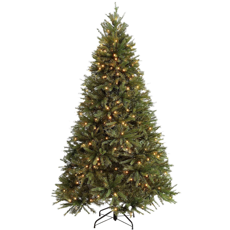 Werchristmas Pre Lit Regal Spruce Multi Function Christmas Tree, 21 M
