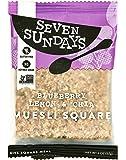 Seven Sundays Muesli Square - Blueberry Lemon Chia Bar {10 Count} - Non-GMO Certified, Gluten Free, Individually Packaged Muesli To-Go Breakfast Bars