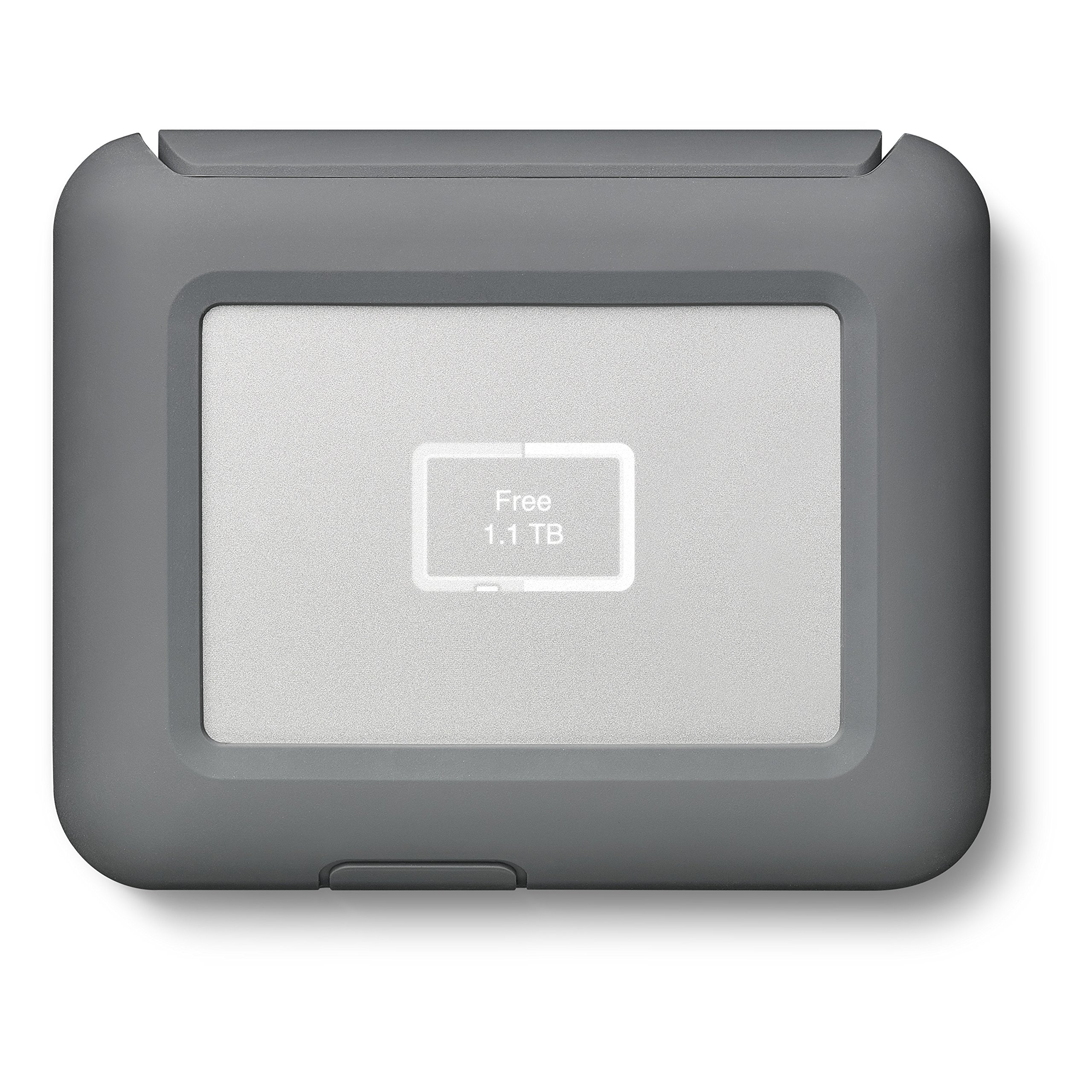 LaCie DJI CoPilot Drive 2TB Portable Drive for Drone Footage -with Integrated Status Screen and SD Card Slot (STGU2000400)