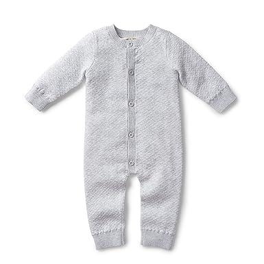 809e29040 Amazon.com  Hope   Henry Layette Diamond Jacquard Knit Romper  Clothing