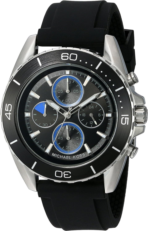 Michael Kors Men's Jetmaster Silver-Tone Watch MK8485