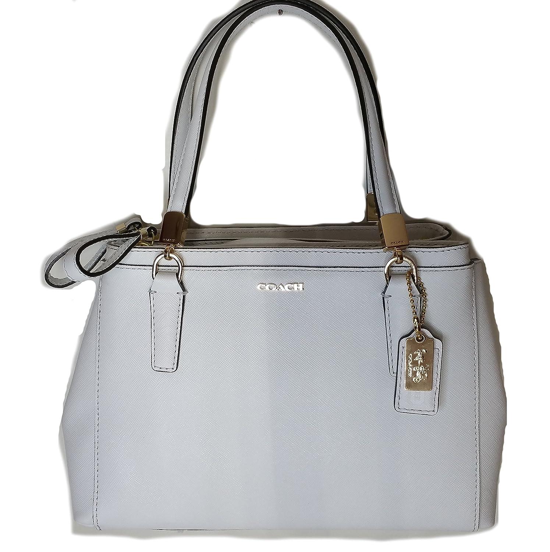 bf01f120eda8 Amazon.com  Coach Madison Mini Christie Carryall in Saffiano Leather White  30402  Shoes