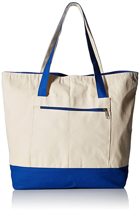 Image Unavailable. Image not available for. Color  18 quot  Stylish Canvas Zippered  Tote Bag ... c39fef0c8e25d
