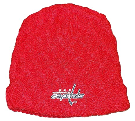 1fbc95aec6c Image Unavailable. Image not available for. Color  Washington Capitals Team  Classics Cuffless CCM NHL Knit Hat ...
