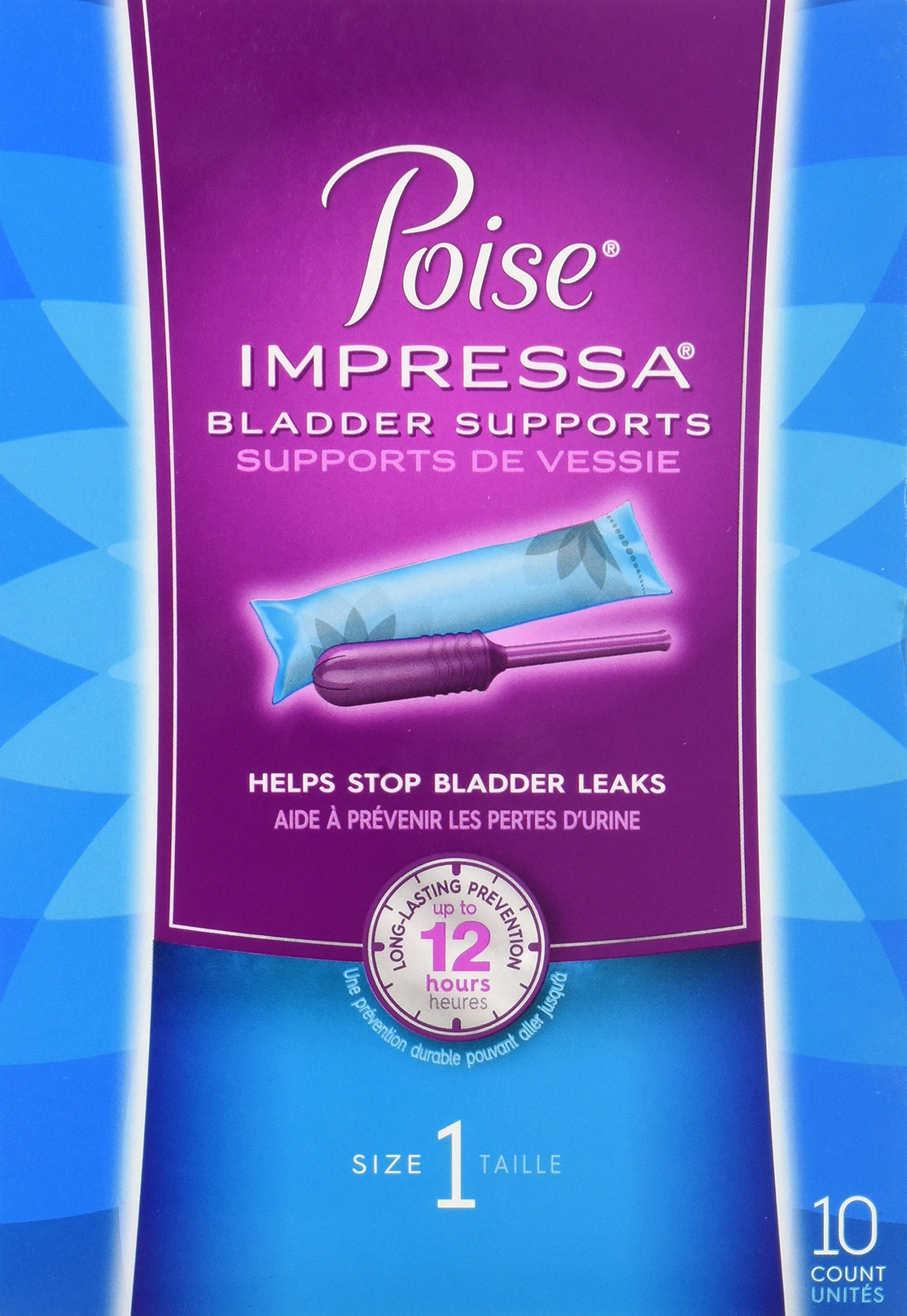 Poise Impressa Bladder Supports, Size 1, 10 Tampons (Pack of 2)