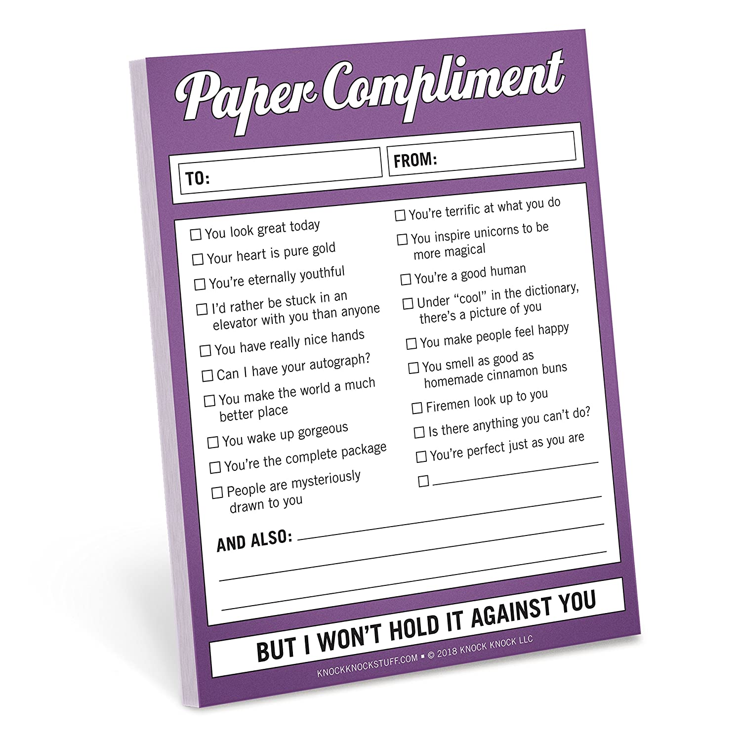 Knock Knock Paper Compliment Nifty Note 12139