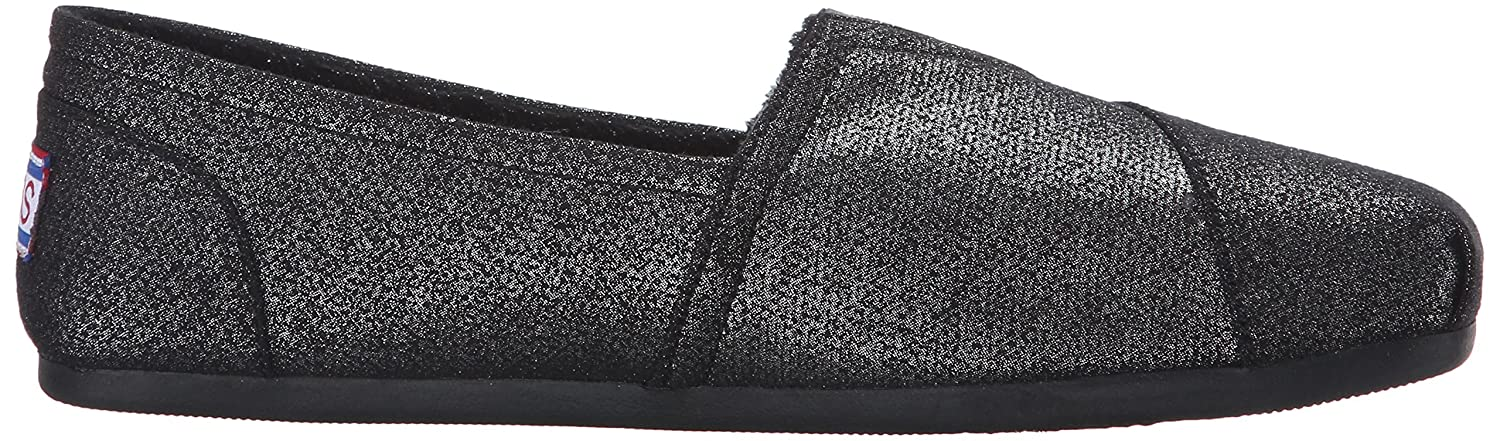 Skechers B01CN0VJDQ BOBS from Women's Plush Fashion Slip-On Flat B01CN0VJDQ Skechers 5 B(M) US|Black Shimmerz b45ee5