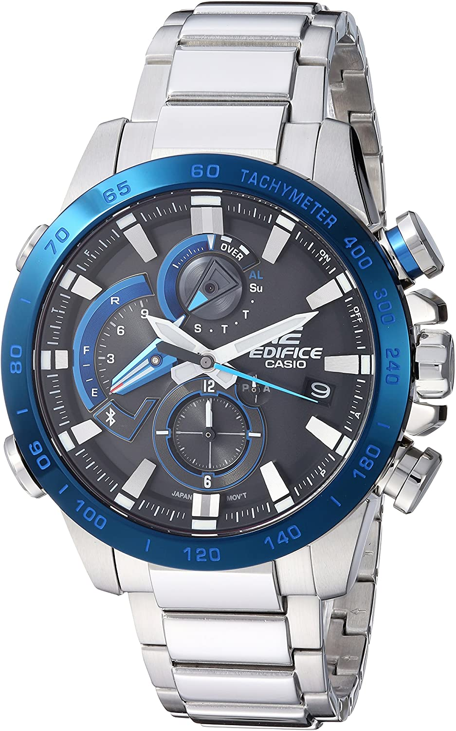 Casio Men's Edifice Connected Quartz Sport Watch with Stainless-Steel Strap, Silver, 14 (Model: EQB-800DB-1ACF)