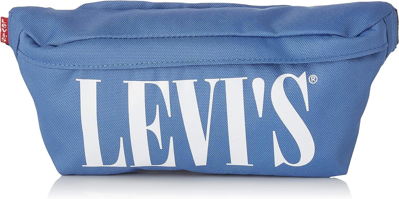 Riñonera Levis Serif Logo Azul Cielo