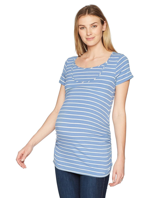 Maternal America Womens Maternity Short Sleeve Nursing Tee