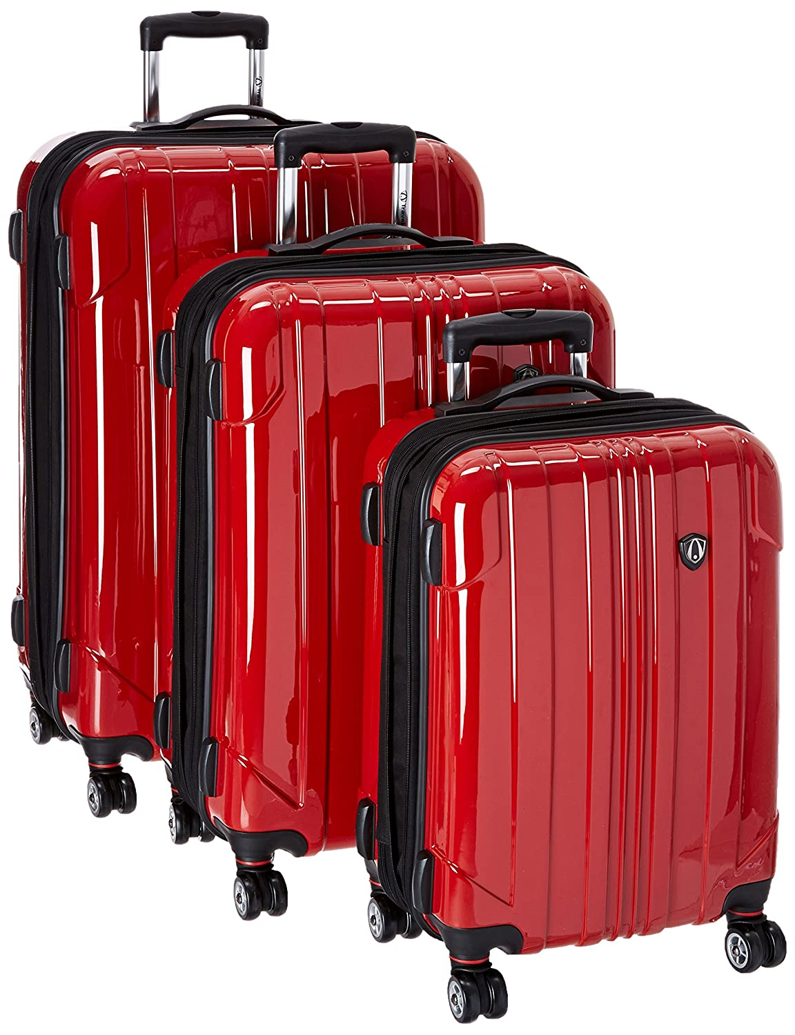 Dropship TC8000R 21//25//29 Traveler/'s Choice Sedona 8-Wheels Polycarbonate Hardside Expandable Spinner 3-Piece Luggage Set Red Red 21//25//29 Travelers Choice