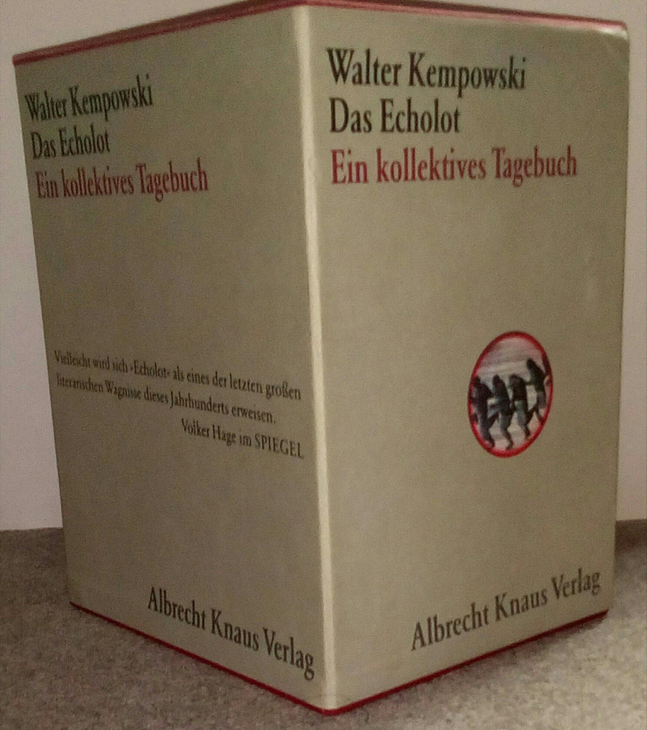 Das Echolot. Ein kollektives Tagebuch. 4 Bände in Schuber. Gebundenes Buch – 3. Dezember 1993 Walter Kempowski Albrecht Knaus Verlag 3813520994 Geschichte / 20. Jahrhundert