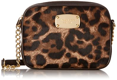 67c04985a003 ... promo code for michael kors hamilton leopard print haircalf small cross  body bag f8342 89eae