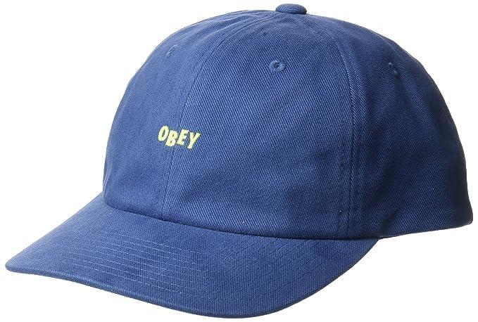 Obey Hombres 100580074 Gorra de béisbol - Azul - Talla única  Amazon.es   Ropa y accesorios df7d40b2b9d