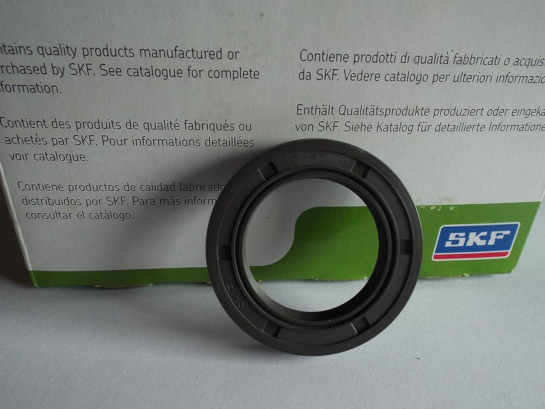 SKF 30x45x8mm Oil Seal Double Lip R23/TC Nitrile Rubber Garter Spring Lancashire Seals
