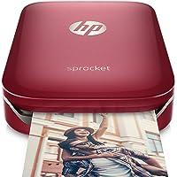HP Sprocket Portable Photo Printer, print social media photos on 2x3 sticky-backed paper - Red (Z3Z93A) - Z3Z93A#B1H